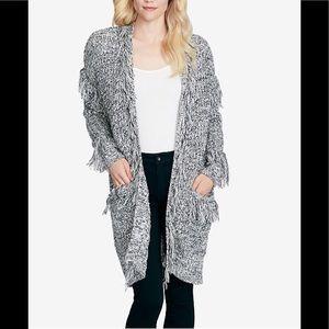 Jessica Simpson Yuki Fringe Cardigan Sweater